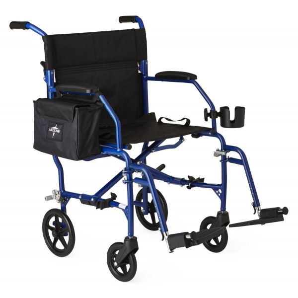 WHEELCHAIR TRANSPORT ULTRALIGHT BLUE