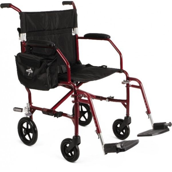 WHEELCHAIR TRANSPORT ULTRALIGHT RED RTL