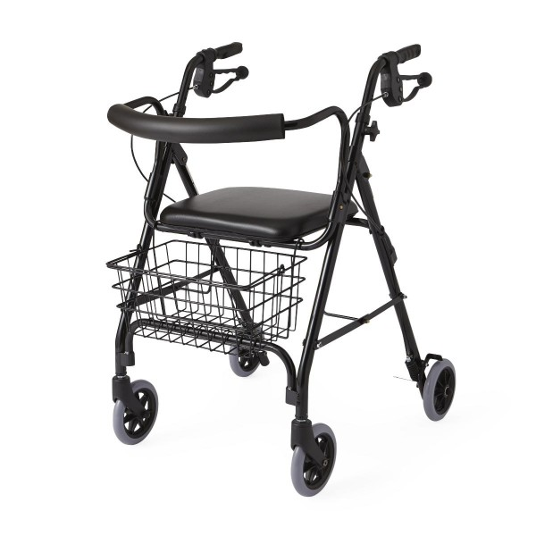 DELUXE BLACK ROLLATOR CURVED BA