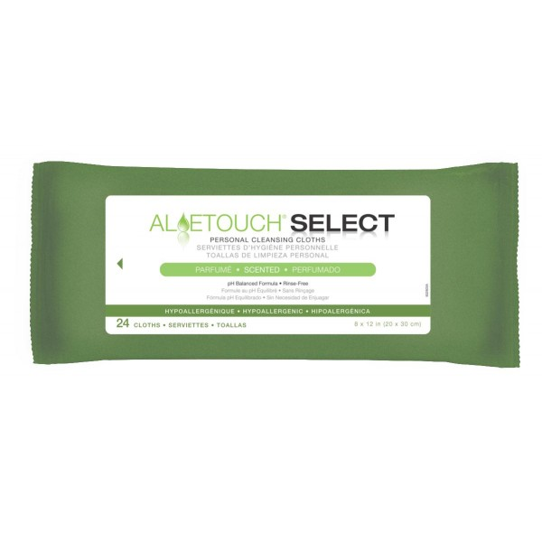 ALOETOUCH SELECT WIPES SCENTED, 24/PK Case of  24