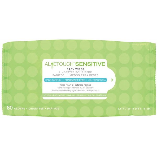 ALOETOUCH SENSITIVE BABY WIPES FRAG F