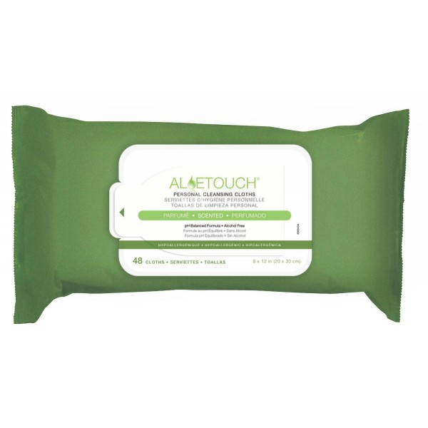 ALOETOUCH WIPES SCENTED 48/PK