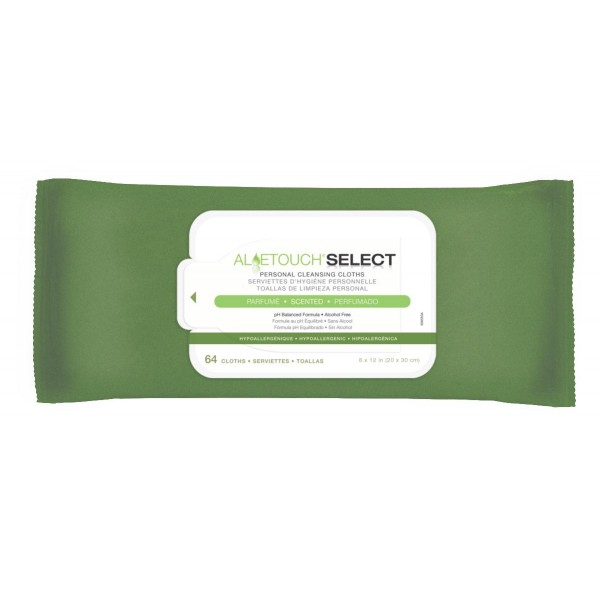 ALOETOUCH SELECT WIPES SCENTED 64/PK