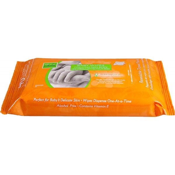 WIPE BABY NICENCLEAN SCENT 6.6X7.9 Case of 12
