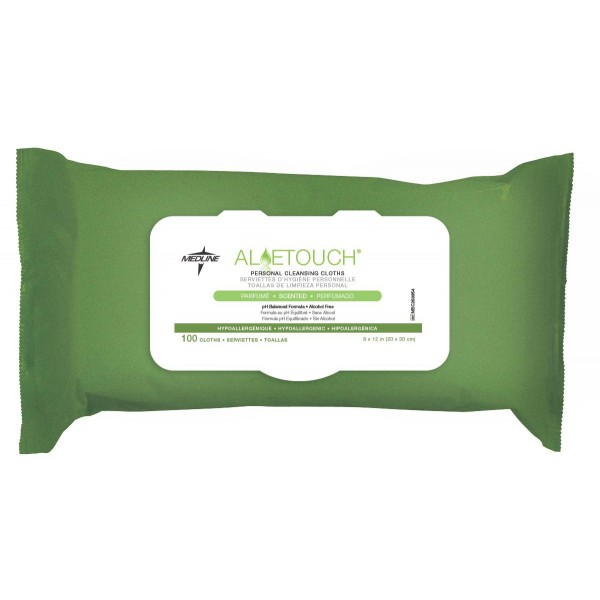ALOETOUCH WIPES SCENTED 100/PK Case of 6